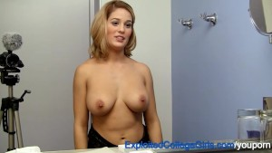 Busty First Timer Fucked and F