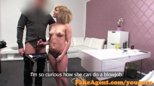 FakeAgent Cute blonde amateur