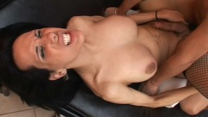 Big Tit Tranny Fucked In The A