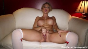 Valentine s day solo with sexy Capri Cavanni