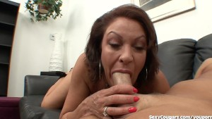 MILF Gobbles Cock Like A Caged
