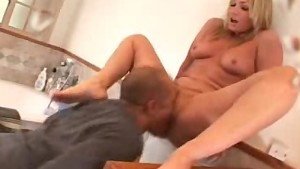 dick blowing and pussy licked babe gives a footjob! only at pornmike.com
