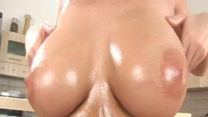 incredible oiled monster boobs