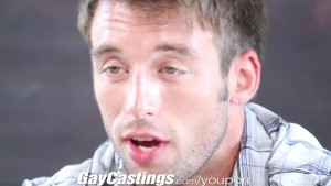 GayCastings Hunky contractor shows off and jerks