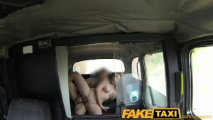 FakeTaxi Cheeky red head pays with blowjob
