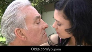 Old hunk penetrates Miho s tiny pussy