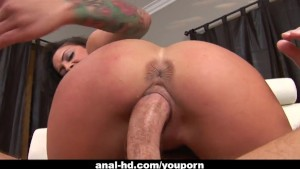 Sultry chick Angelina Valentine rides a monster cock
