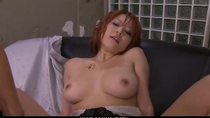 Filthy redhead Asian babe show