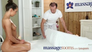 massage rooms stunning russian slut has tight hole filled with monster cock