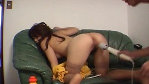 Misa Yuki is toyed and licked