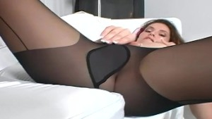 Brunette with big tits rubbing
