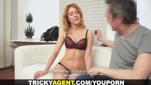 Tricky Agent - Perky redhead fucking casting