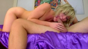 Cute blonde needs a cock to help her with her breakup