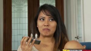 LatinFixation Asian Latina mix Angelina Chung gets fucked on camera