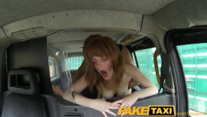 FakeTaxi Innocent red head gets taxi scamed