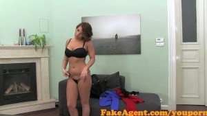 FakeAgent Classy brunette takes it up the ass in Casting