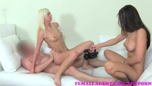 FemaleAgent Soaking wet squirting threesome