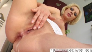 All Internal Blonde s holes penetrated and cum filled