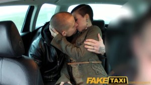 FakeTaxi Horny couple take taxi home where girlfriend is shared and loves it