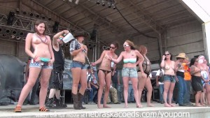 milfy wet tshirt contest at abate of iowa biker rally