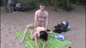 Outdoor sex video featuring deepthroat