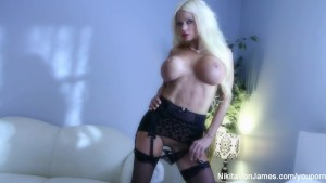 Sexy tease with Nikita Von James