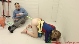 Foolgirl Emma Haize gets hard anal and face fuck in pogo stick bondage