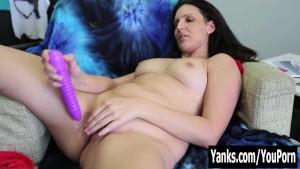 Horny Brunette Sasha Toying Her Pussy