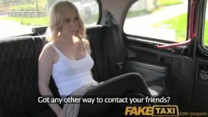 FakeTaxi Hot blonde Canadian tourist riding british drivers cock
