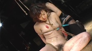 Asian slavegirl moans during a