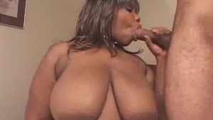Fingering Ebony BBW Sucks On Two Cock