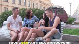 Young Sex Parties - Making selfies and fucking