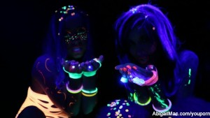 Black light porn set behind the scenes