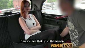 FakeTaxi Elegant ginger women fucks driver in her black lace thong