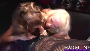 HarmonyVision Threesome Fucking in the Sex Shop for a Creampie