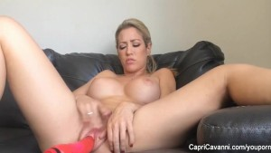 Capri Cavanni and a Big Dildo