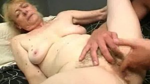 Chubby Granny Cock Sucks And Her Gets Hairy Pussy Fucked