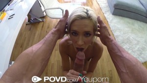 HD - POVD Teen Kacey Jordan is pounded by big cock