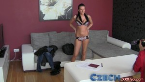 Czech MILF gets down and sticky with black haired beauty