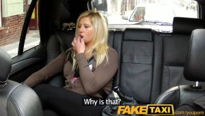 FakeTaxi Blonde has sex from b