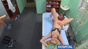 FakeHospital Doctors oral massage gives skinny blonde her first orgasm in years