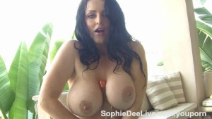 Hot tub toy time for busty British slut Sophie Dee