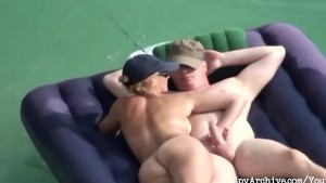 Horny chick plays with her bf