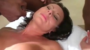 Interracial Gangbang party for UK MILF