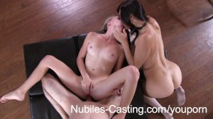 Teen casting video ends in messy creampie