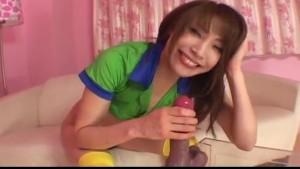 Ayane Sakurada inserting toys