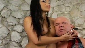 This sexy Asian gets kinky with old man