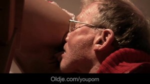 Two old pervert cocks DPs Cherry s young holes