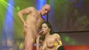 real fuck on public stage