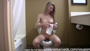 nubile libertine teen playing around in the nude then peeing